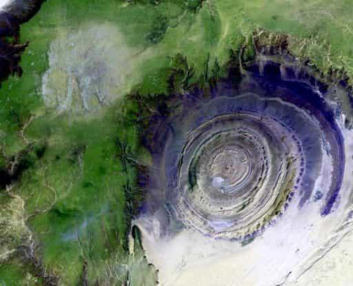 глаз Сахары вид из космоса