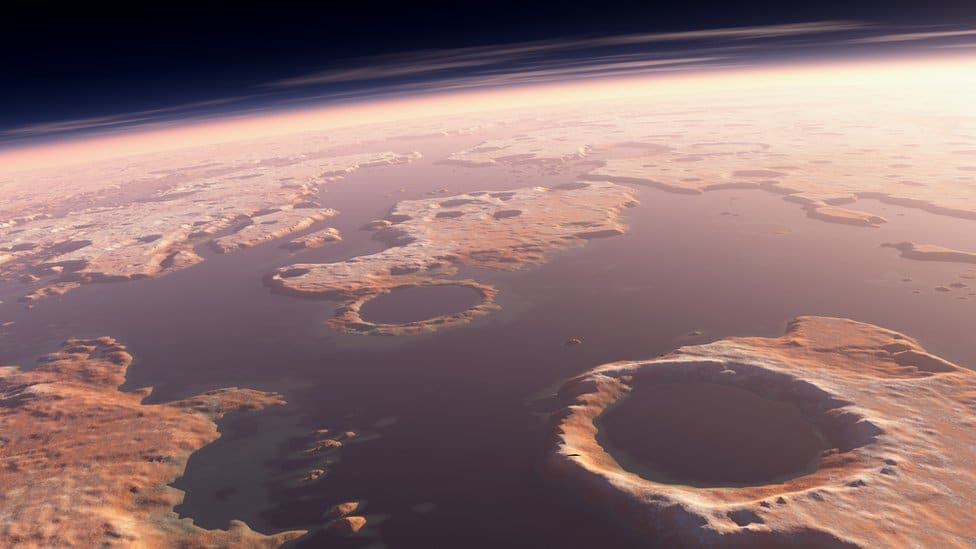Озера Марса. Фото НАСА.
