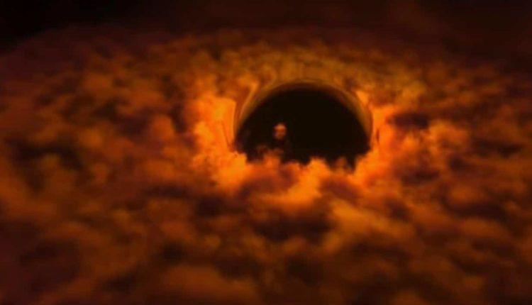 Черные дыры поглощают материю