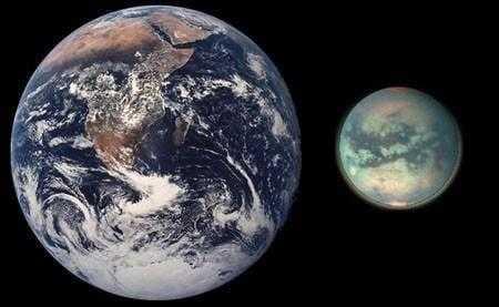 Земля и Титан