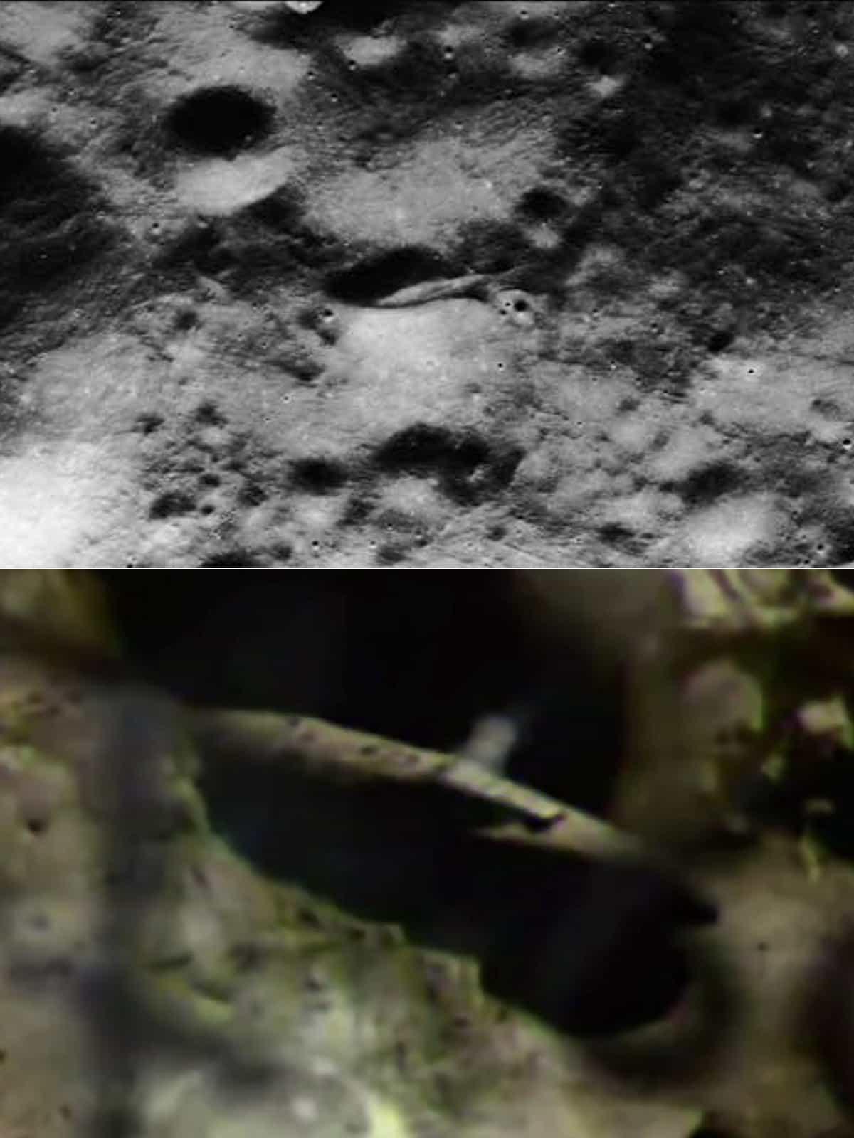 инопланетный корабль на Луне