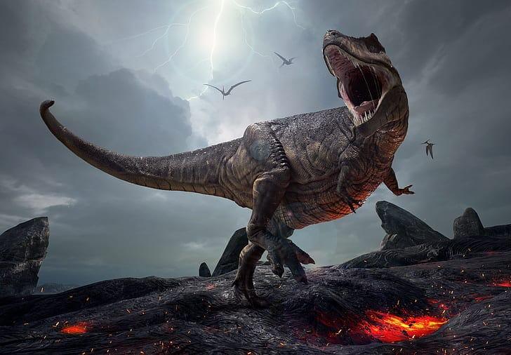 злой тираннозавр