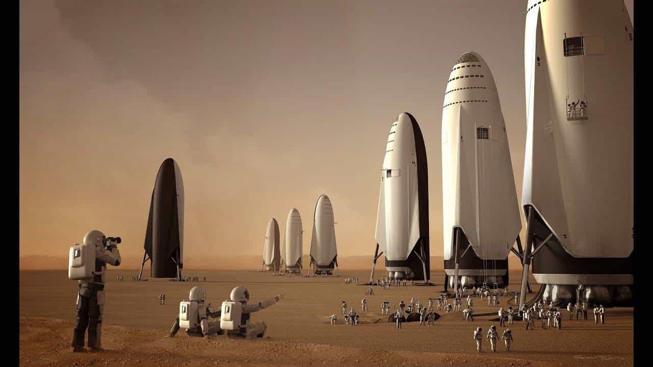 Starship среди марсианских песков
