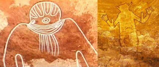НЛО на рисунках древнего Алжира