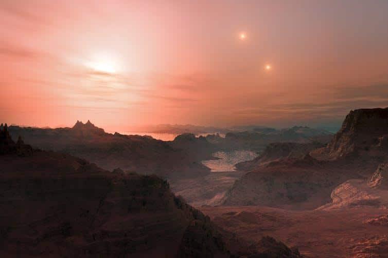 поверхность экхопланеты