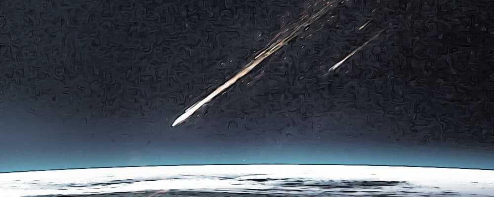 метеориты летят