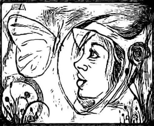 Космос и межпланетная бабочка