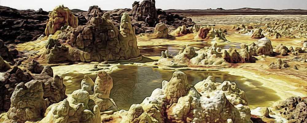 жизнь в гидротермальных прудах Африки