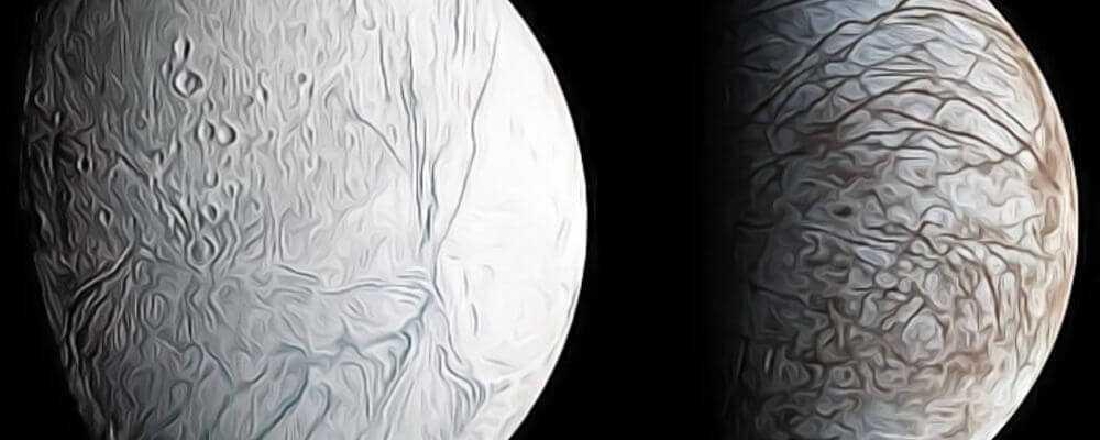 Мягкие ледяные луны планет - гигантов