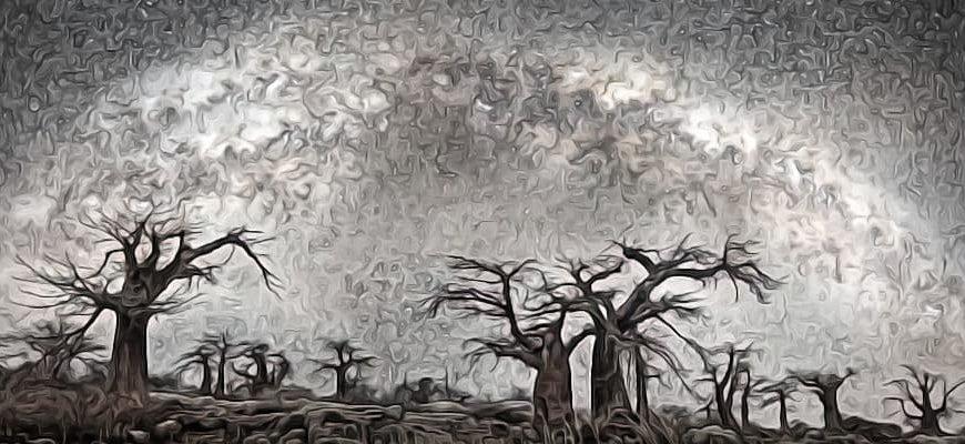 Ночное небо рисунок