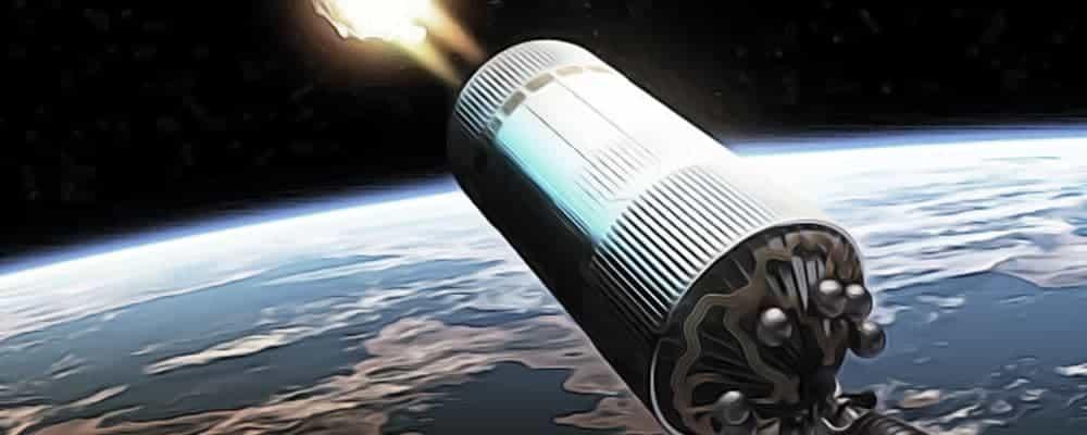 ядерный двигатель в космосе