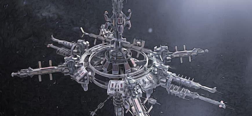 футуристическая орбитальная станция