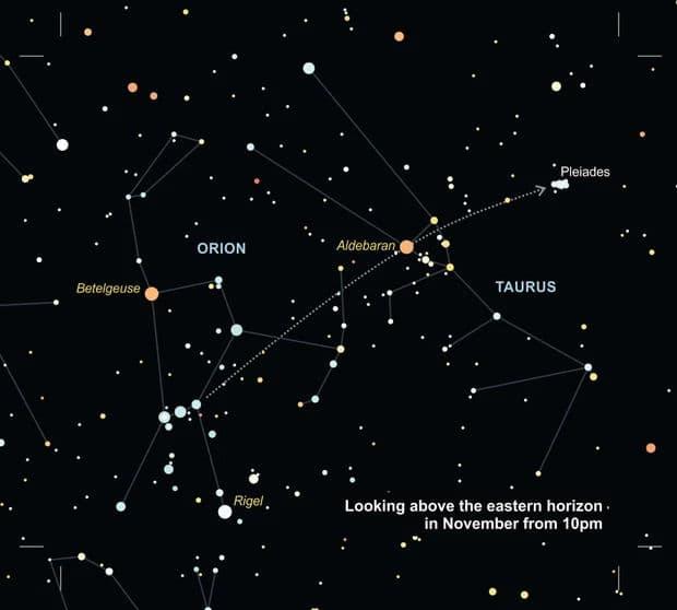 Как найти Плеяды в ночном небе?