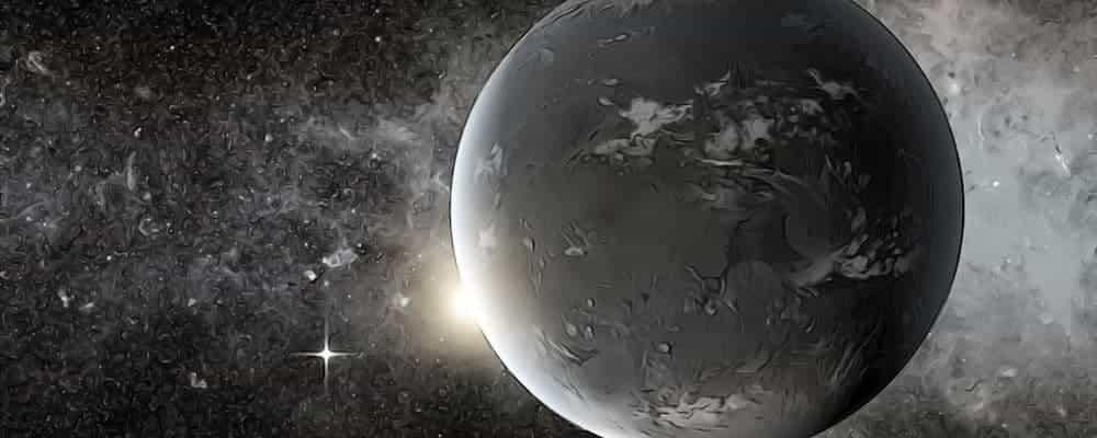 планета возле черной дыры