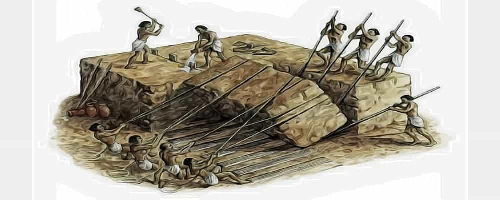 большие камни обработанные человеком