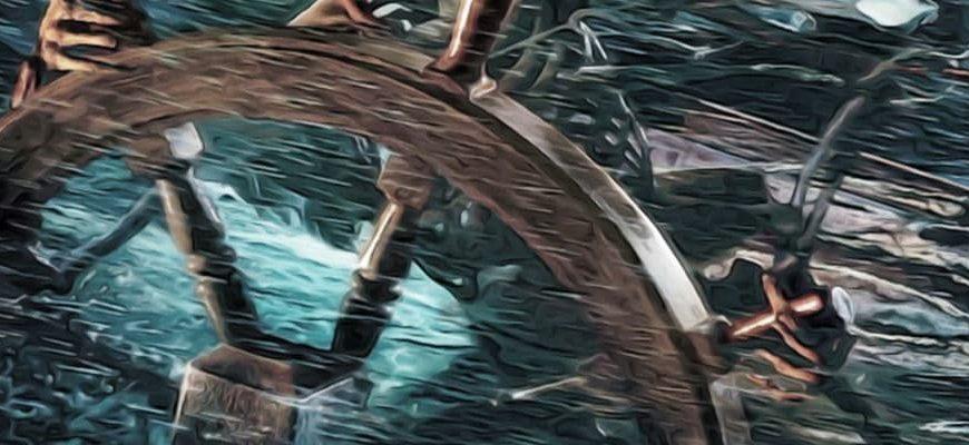 «Октавиус» замерз во льдах штурвал корабля