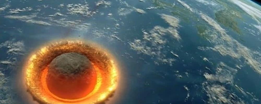 комета врезается в Землю