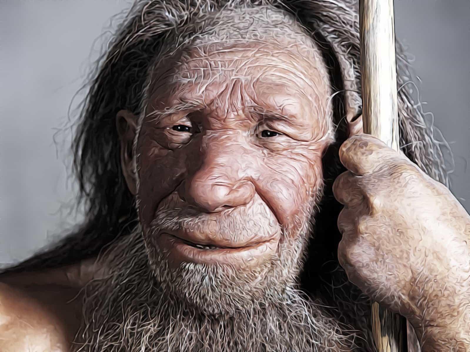 неандерталец рисунок