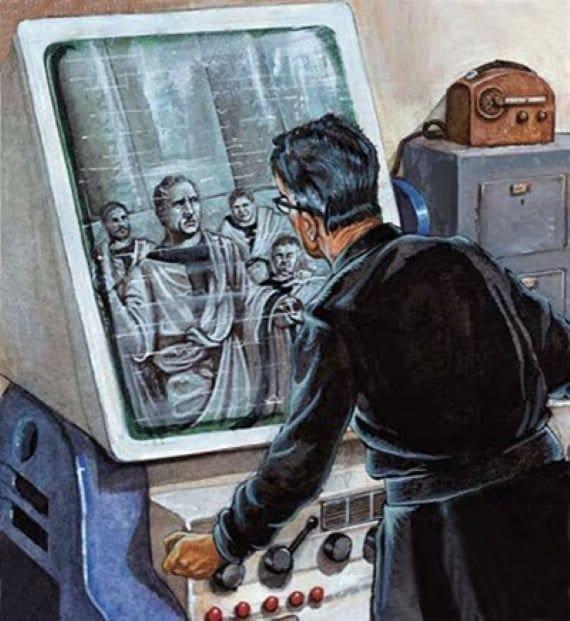 Ученый присутствует на заседании сената Древнего Рима. Фото НАСА.