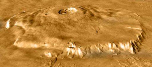 Гора Олимп. Марс.