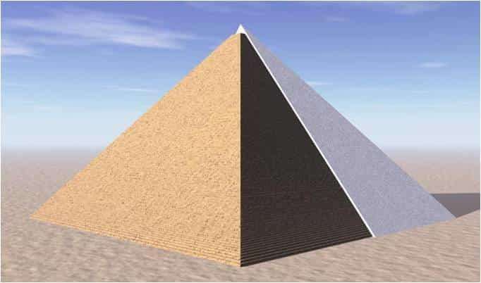 Пирамида Хеопса облицованая известняком